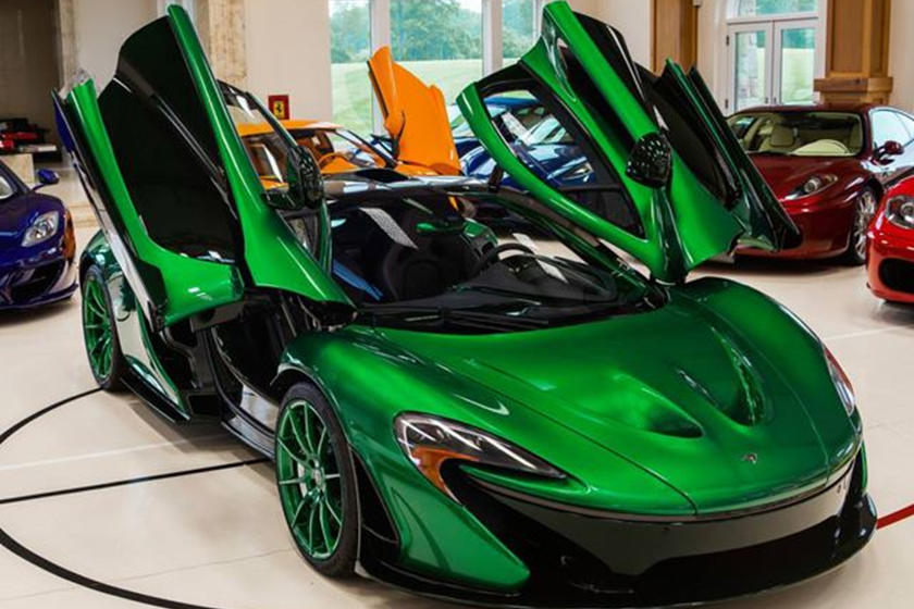 chrome green mclaren p1 with matching wheels is the bomb carbuzz