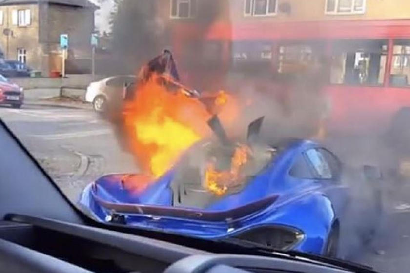 Why Did This McLaren P1 Suddenly Erupt In Flames?   CarBuzz