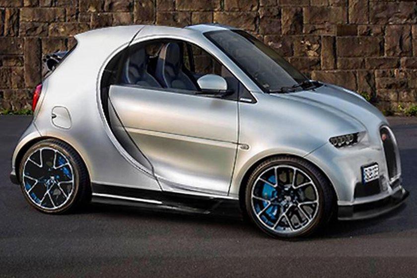 This Bugatti Chiron Smart Car Mash-Up Is Beyond Disturbing - CarBuzz