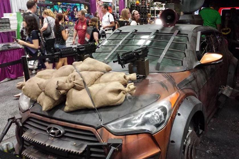Walking Dead Hyundai Veloster Zombie Survival Machine is Epic