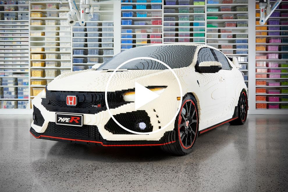 This Lego Honda Civic Type R Is As Big And Heavy As The Real Thing