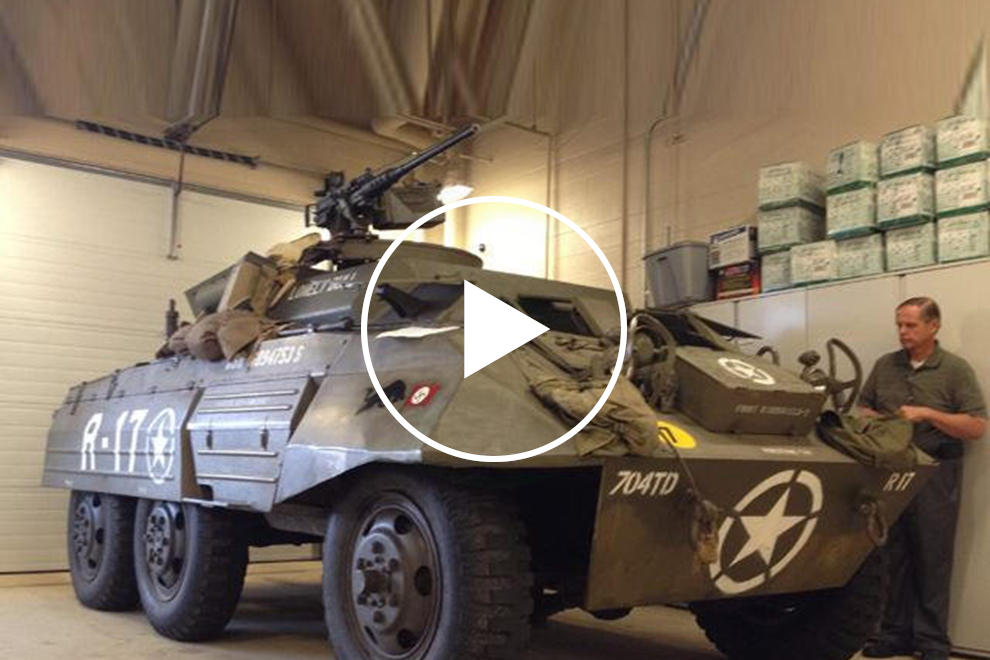 Veteran's WWII Era Armored Vehicle Scares Rich People