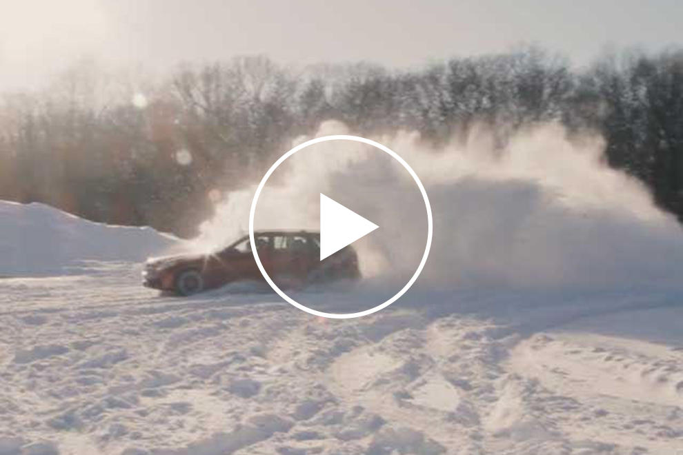 Here's Nothing But Awesome Cars Drifting In Snow