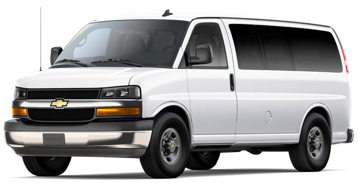 "2018 Chevrolet Express Passenger Van RWD 3500 135"" LT thumbnail"