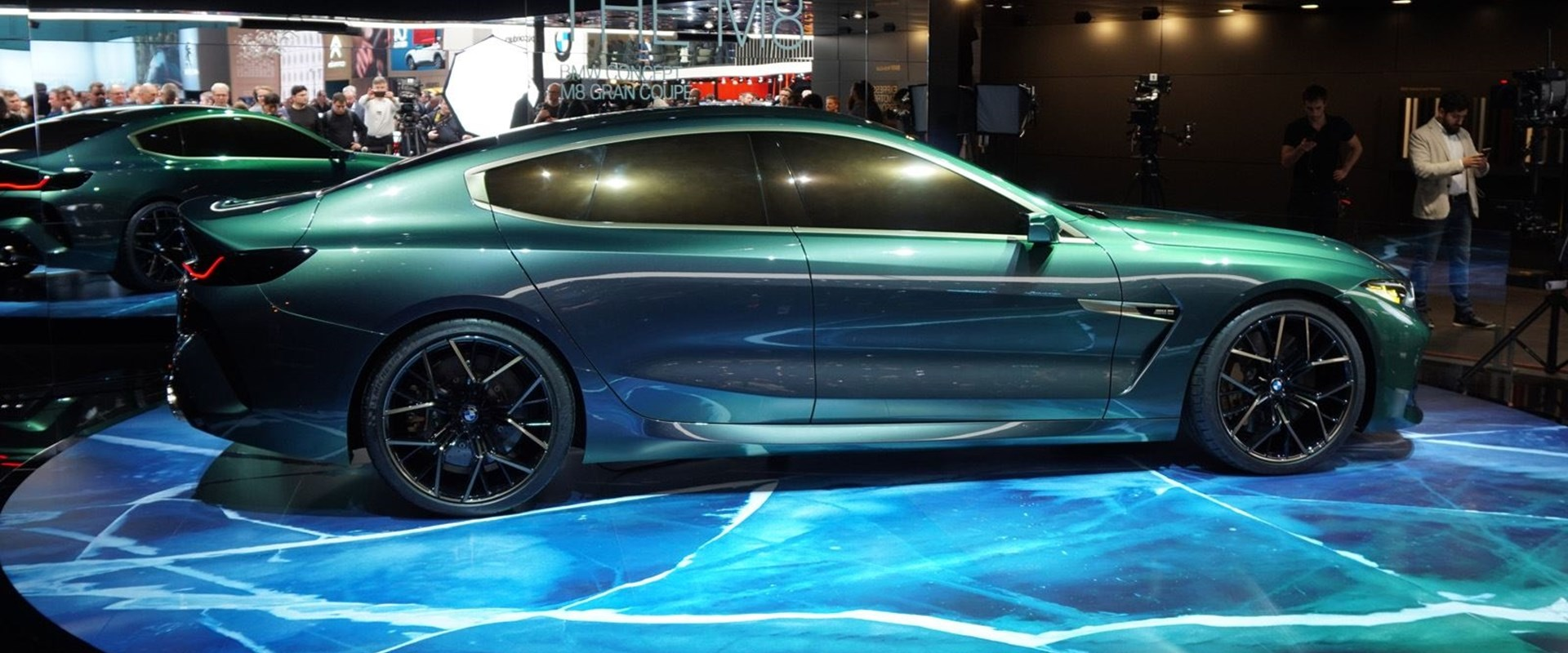 BMW Makes Us Envious With Green Concept M8 Gran Coupe   CarBuzz