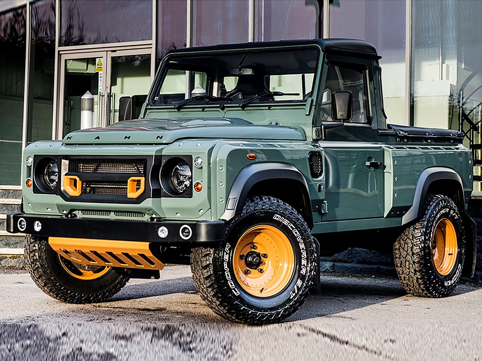 land rover defender pickup truck tipped to rival mercedes. Black Bedroom Furniture Sets. Home Design Ideas