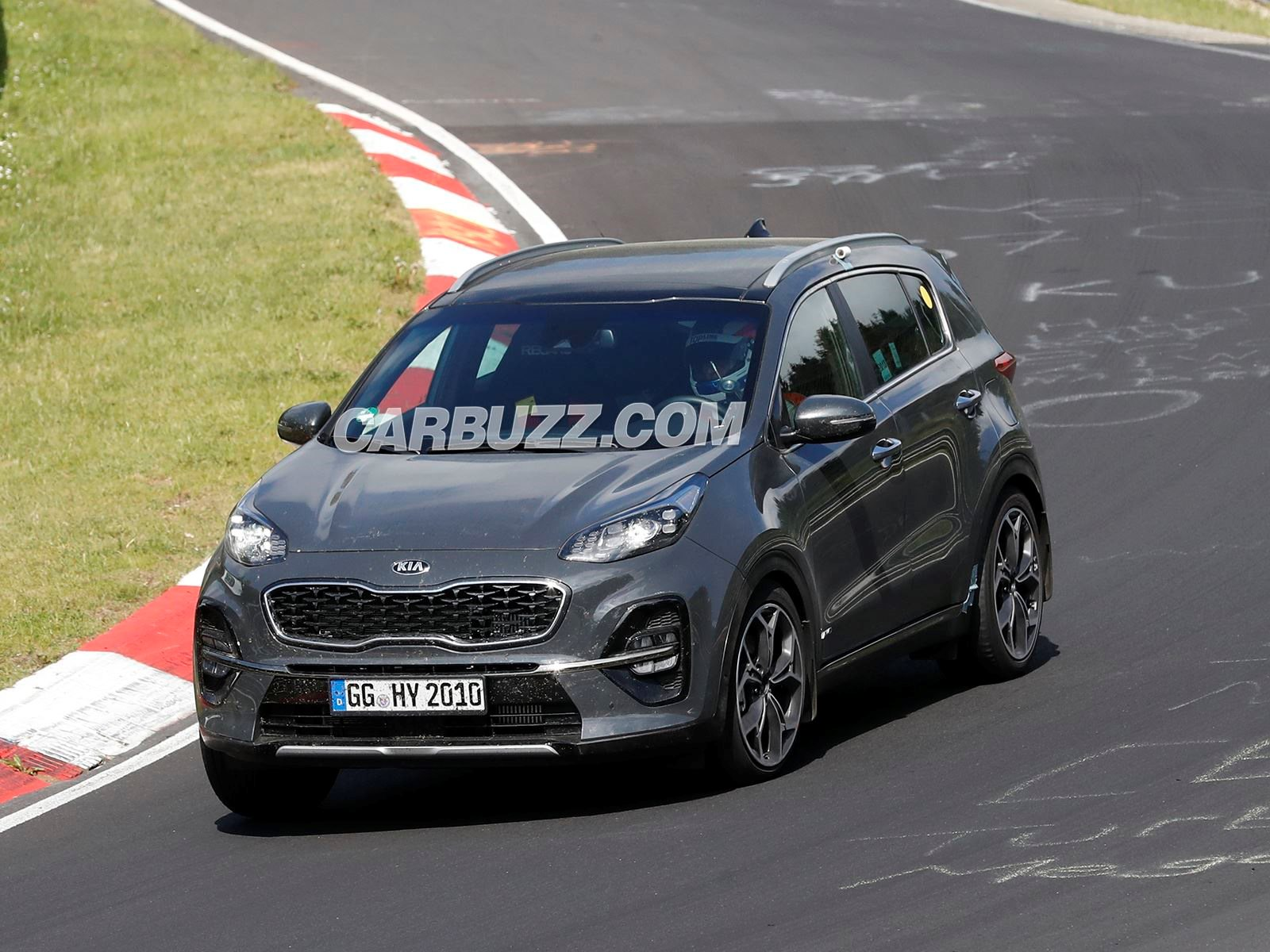 2019 kia sportage facelift caught completely undisguised. Black Bedroom Furniture Sets. Home Design Ideas