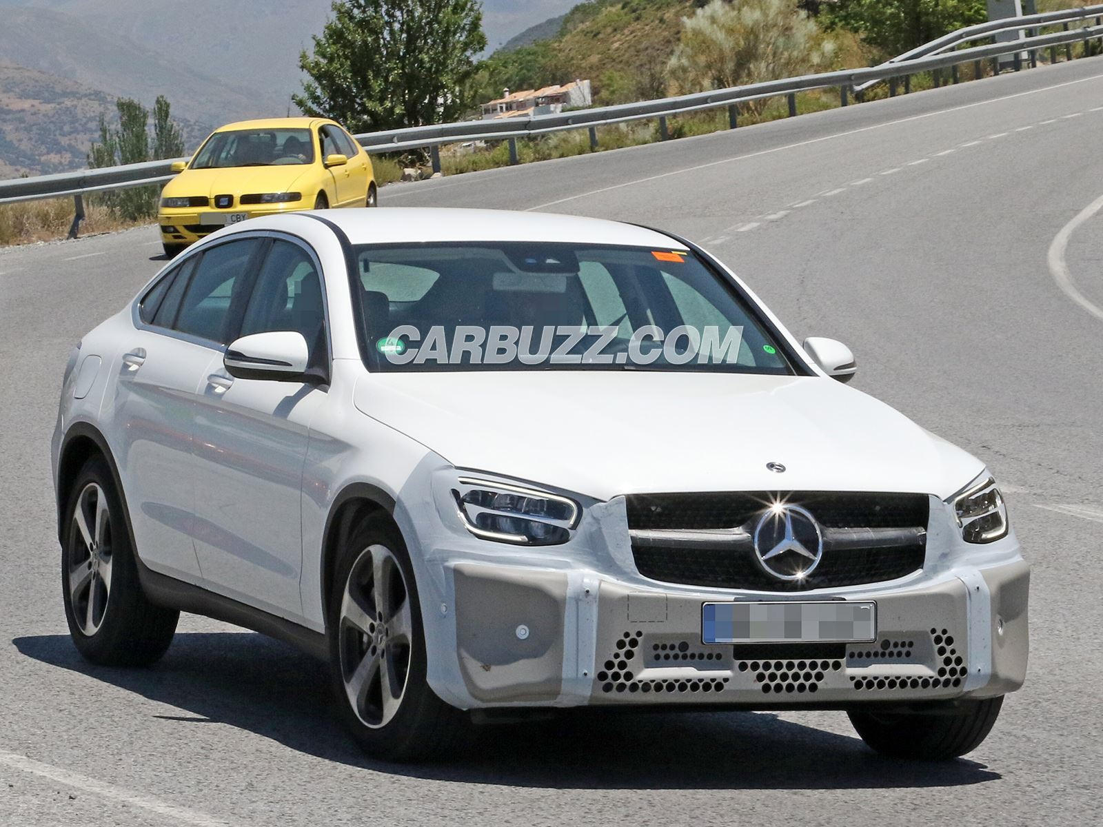 2019 mercedes glc coupe is looking close to production carbuzz. Black Bedroom Furniture Sets. Home Design Ideas