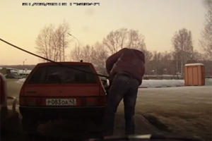 This is How Russian Guys Move Their Cars Closer to the Gas Pump