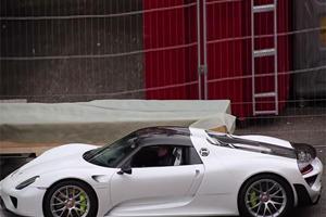 Awesome 918 Spyder Spied Entering Geneva Show