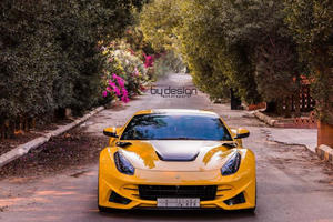 Saudi Novitec N-Largo Ferrari F12 Shines in Yellow and Black