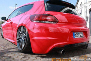 VW Scirocco on Bentley Wheels is Odd but Awesome