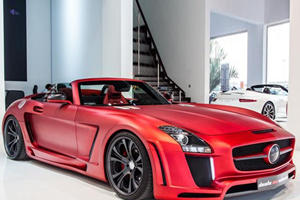 Stunning Matte Red FAB Design Jetstream SLS AMG Roadster For Sale