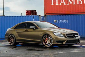 Strasse Adds More Bling to Gold Benz CLS 63 AMG