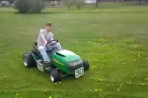 Fastest Lawn Mower You'll See Today!