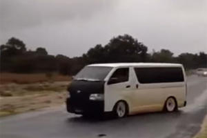 Toyota Hiace Drifting Proves Its All About the Driver