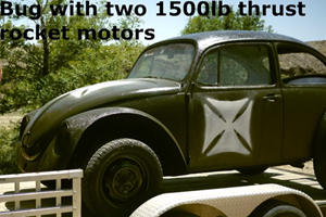 Rocket-Powered VW Bug Hits 100mph In 2 Seconds