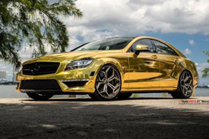 Gold Wrapped Mercedes-Benz CLS63 by MC Customs is Fit for a Saudi Prince