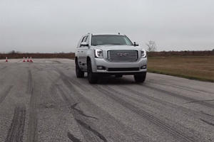 Watch the Hennessey-Tuned GMC Denali Sprint from 0-60 MPH in 4.5 Seconds