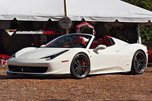 Ferrari 458 Spider Upgraded with Vorsteiner, ADV.1 and Akrapovic Goodies