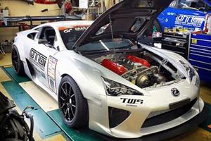 Crazy Japanese Builder Drops TRD Nascar Engine Into Lexus LFA Supercar Because Drifting