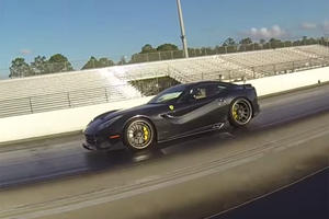 Ferrari F12 Edges Out Tesla Model S P85D By Just Half-A-Second In The Quarter-Mile