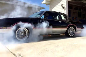AWD Cutlass Accelerates Global Warming With Incredible Burnout