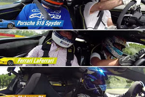 Watching A P1, LaFerrari And 918 Spyder Lap Spa All At Once Is Supercar Heaven