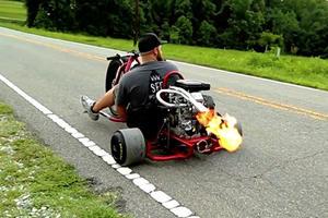 This Motorized Drift Trike Shoots Bigger Flames Than A Supercar