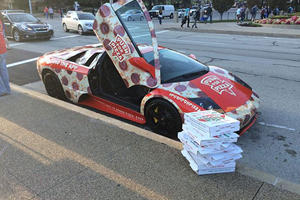 You Might Love Pizza But Who Could Ever Do This To A Lamborghini?