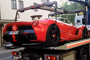 OWNED: LaFerrari Gets Towed Away In Munich