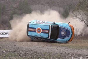 Intense Subaru Rally Car Crash Caught On Film In Glorious Slow Motion
