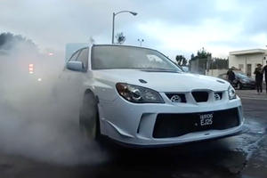 Watch A Chevy Try And Rip A Subaru In Half