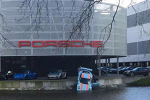 Oops! This Gulf Liveried Porsche 911 GT3 RS Tried To Go For A Swim