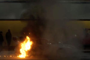 Setting Your Porsche Ablaze Is A Good Way To Draw Attention At The New York Auto Show