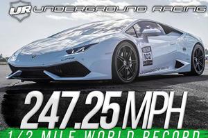This 2,500 Horsepower Lamborghini Just Set The Standing Half-Mile Record