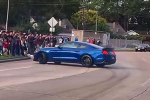 Watch This Mustang Shelby GT350 Almost Destroy A Cars & Coffee Crowd