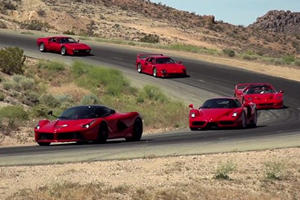 Jay Leno Gathers The Greatest Ferrari Models EVER On One Track