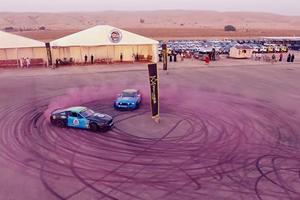 Ford Racing Just Made The World's Largest Tire Mark For A Great Cause