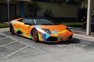 Hideous Lamborghini Murcielago Roadster Caught Parked In A Handicap Spot