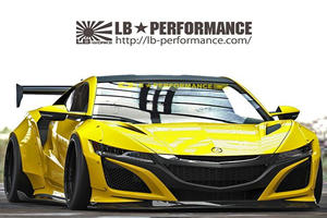 Acura NSX Gets The Liberty Walk Widebody Treatment