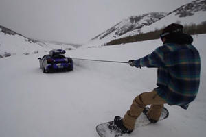Snowboarding With A Lamborghini Is How Gearheads Deal With Winter