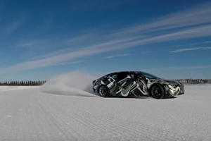 Turns Out The 1,000-HP Lucid Motors Air Can Drift In The Snow
