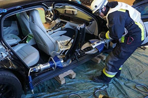 German Firefighters Rip Apart New Panamera In The Name Of Training