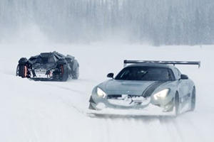 Drifting Supercars And The Batmobile In The Snow Looks Like Fun