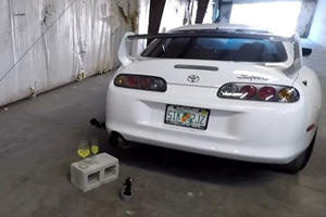1,000-HP Supra Destroys Wine Glasses With Monster Exhaust