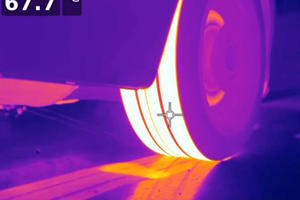 Watching A Burnout Through The Lens Of A Thermal Camera Is Fun
