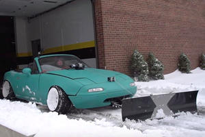 Here's Why Using A Mazda MX-5 Miata As A Snow Plow Is A Terrible Idea