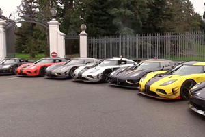 Listen To 7 Koenigseggs Spit Flames At One Other To See Who's Loudest