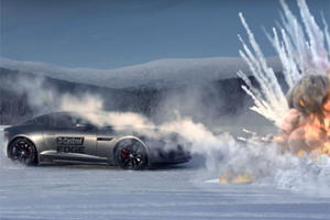 Watch A Jaguar F-Type Battle Tanks And Rockets On A Sheet Of Ice